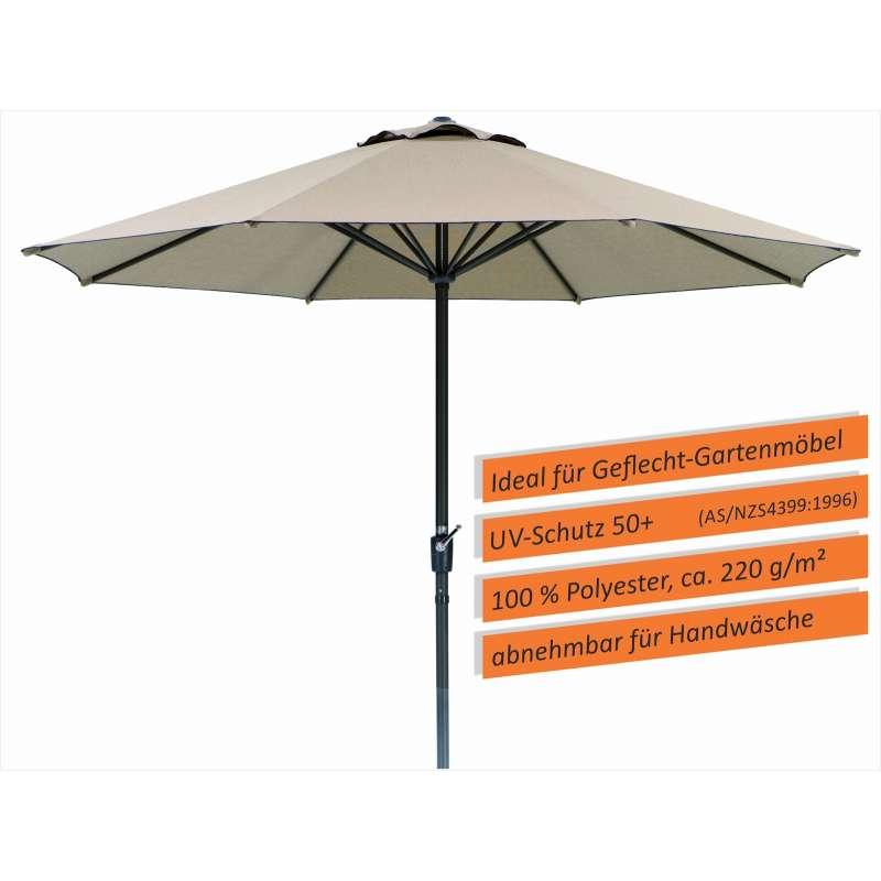 Schneider Schirme Korsika Mittelmastschirm ø 320 cm natur Sonnenschirm Mittelstock