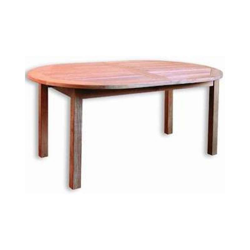 Inko Teakholz-Auszugstisch Bangkok oval 200/260x110x75 cm Tisch ausziehbar Holztisch