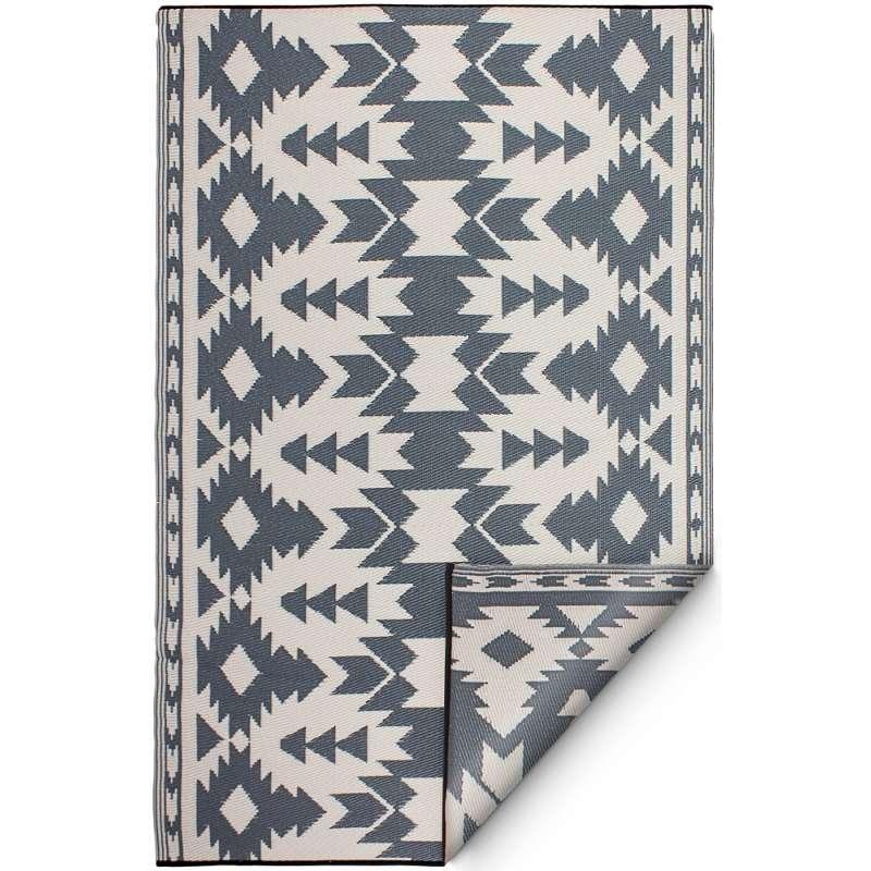 Fab Hab Outdoorteppich Miramar Gray aus recyceltem Plastik grau wetterfest 90x150 cm
