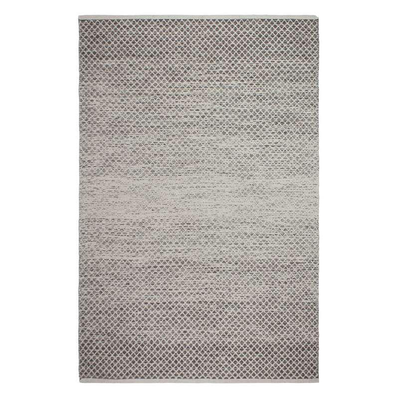 Fab Habitat Teppich Aurora Grey aus recycelter Baumwolle grau 90x150 cm