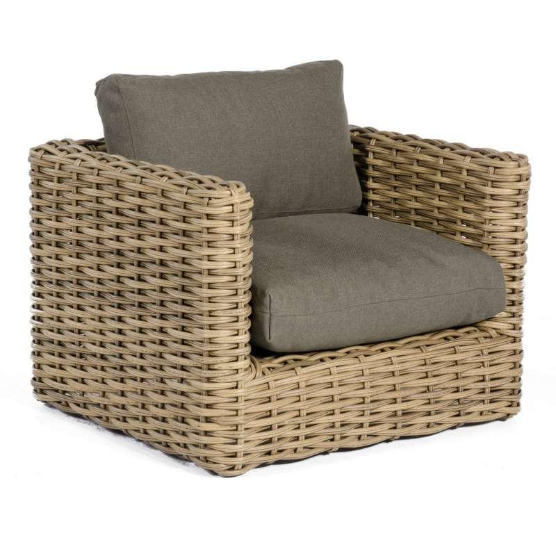 Sonnenpartner Loungesessel Sands Aluminium mit Polyrattan Light Oaks Lounge-Sessel