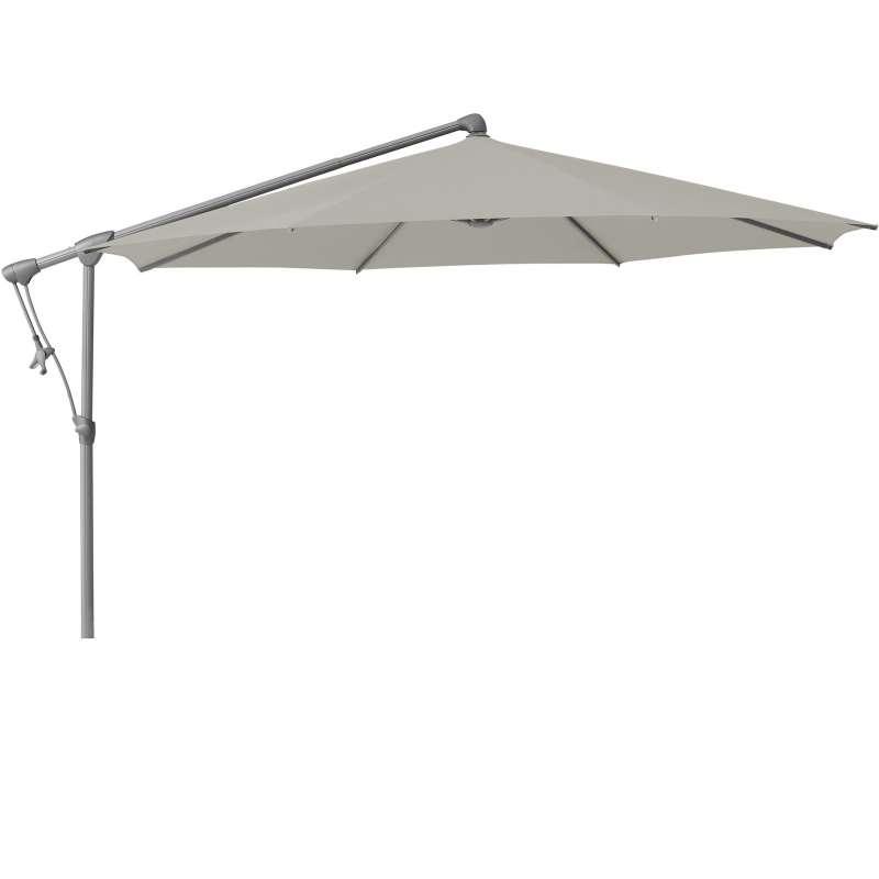 GLATZ Sonnenschirm SUNWING® C+ easy rund ø 265 cm Stoffklasse 2 Ash 151