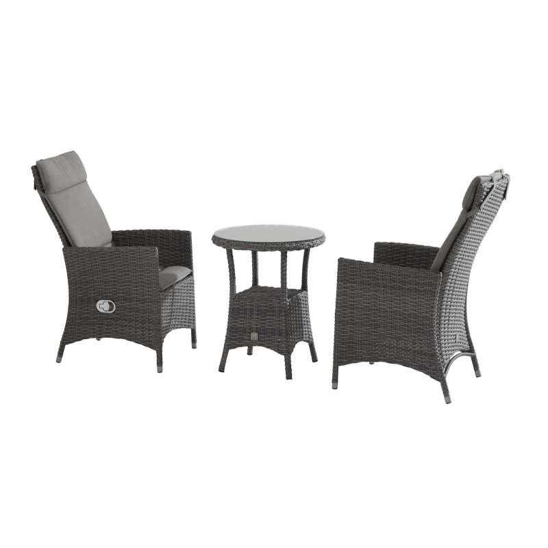Aqua Saar Balkonset Honeymoon Sitzgruppe 3-teilig SET Loungeset Tisch ø 60 cm