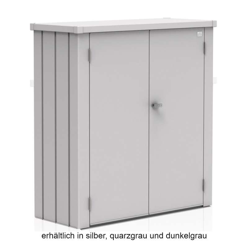 Biohort Terrassenschrank Romeo M Gartenhaus 132 x 57 x 140 cm in 3 Farbvarianten