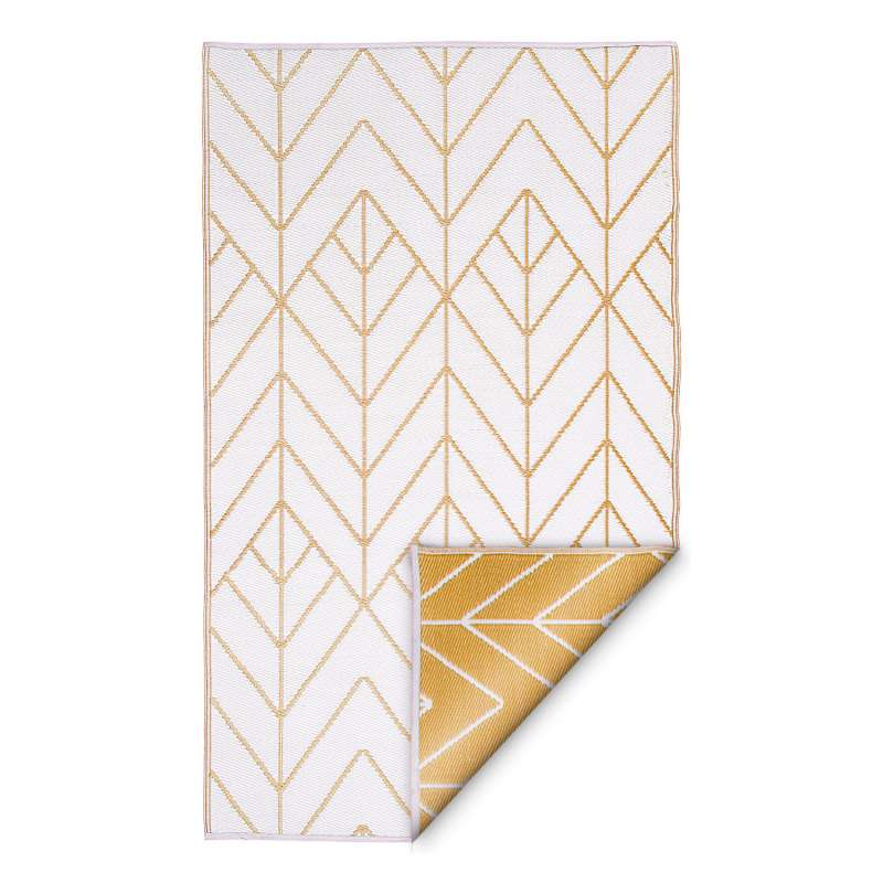 Fab Hab Outdoorteppich Sydney Gold&Cream aus recyceltem Plastik creme/gold 90x150 cm
