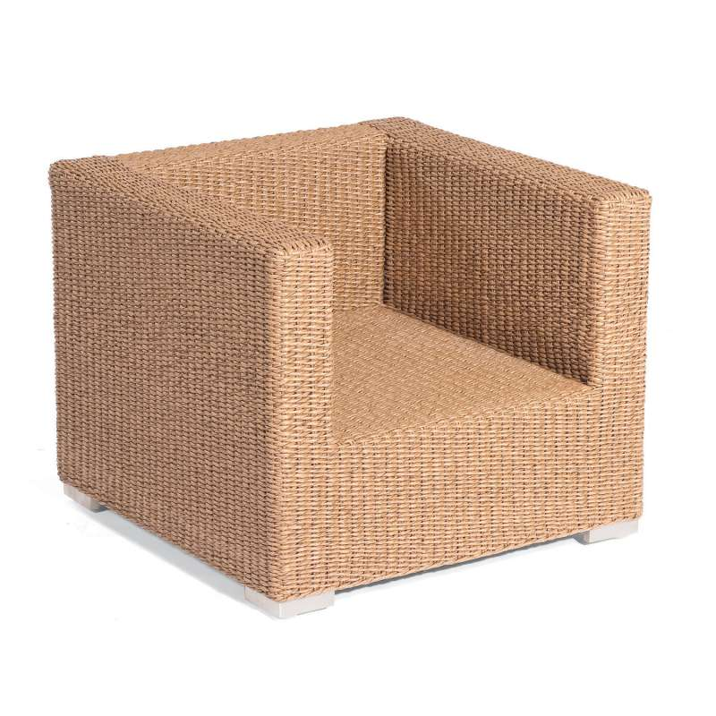 Sonnenpartner Lounge-Sessel Residence Aluminium mit Polyrattan Hyazinthoptik inklusive Kissen Lounge