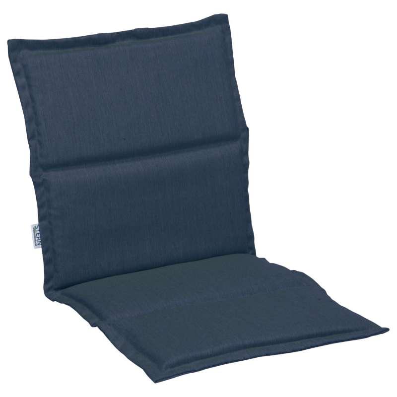 Stern Auflage für Stapelsessel Outdoorstoff dunkelblau uni 93x46 cm Universalauflage Sitzkissen