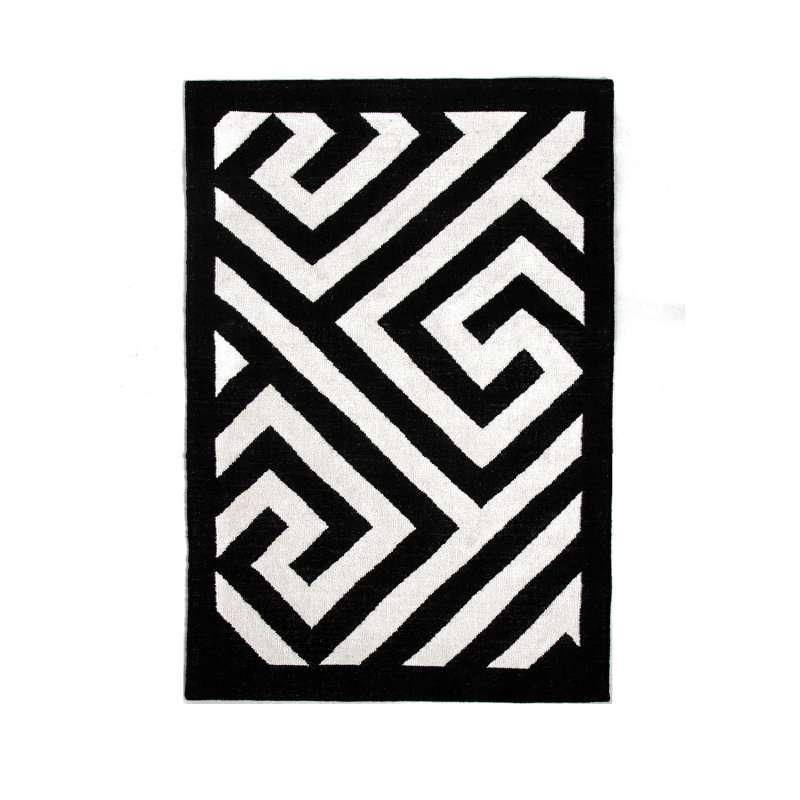 Fab Hab Outdoorteppich Vancouver Black aus recycelten PET-Flaschen schwarz 60x90 cm