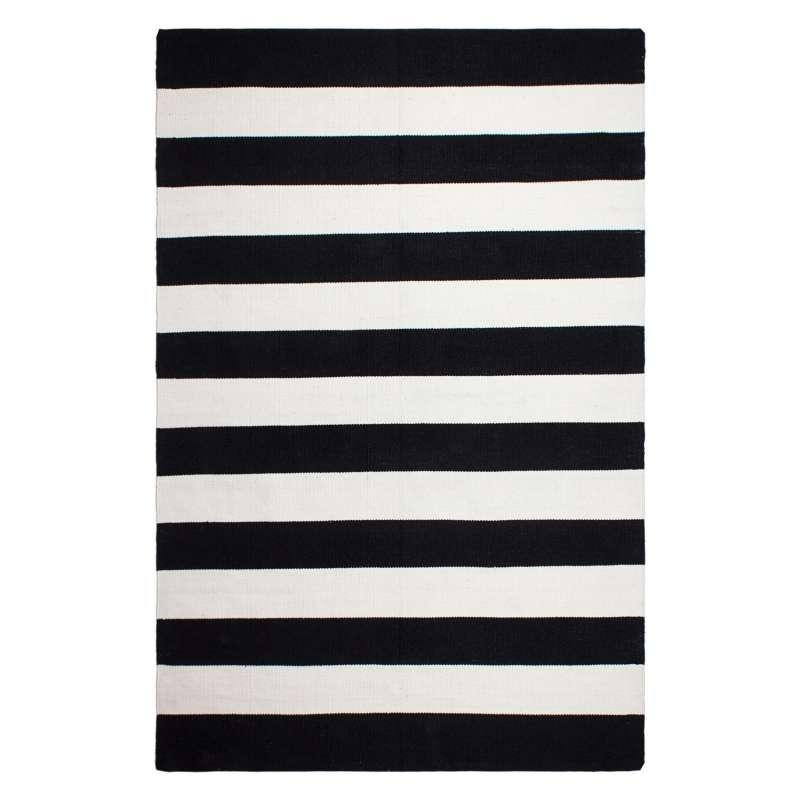 Fab Hab Outdoorteppich Nantucket Black/White aus recycelten PET-Flaschen schwarz/weiß 90x150 cm
