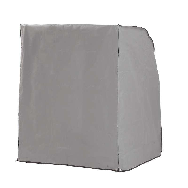 Sonnenpartner Schutzhülle für Strandkorb 1-Sitzer grau Strandkorbhülle mit Reißverschluss
