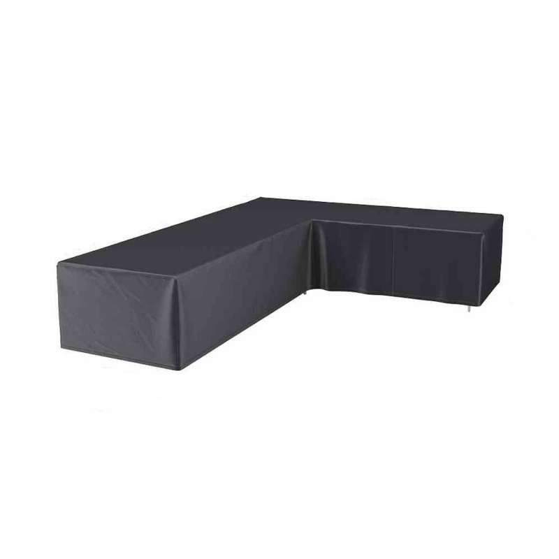 AeroCover Schutzhülle für L-förmige Lounge-Sets R355xL275x100xH70 cm Schutzhaube Sitzgruppe