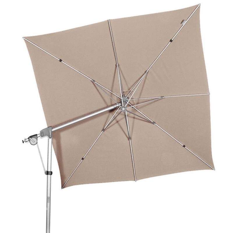 Doppler Protect Pendel 300 x 300 cm Sonnenschirm Sand 847 Pendelschirm Ampelschirm