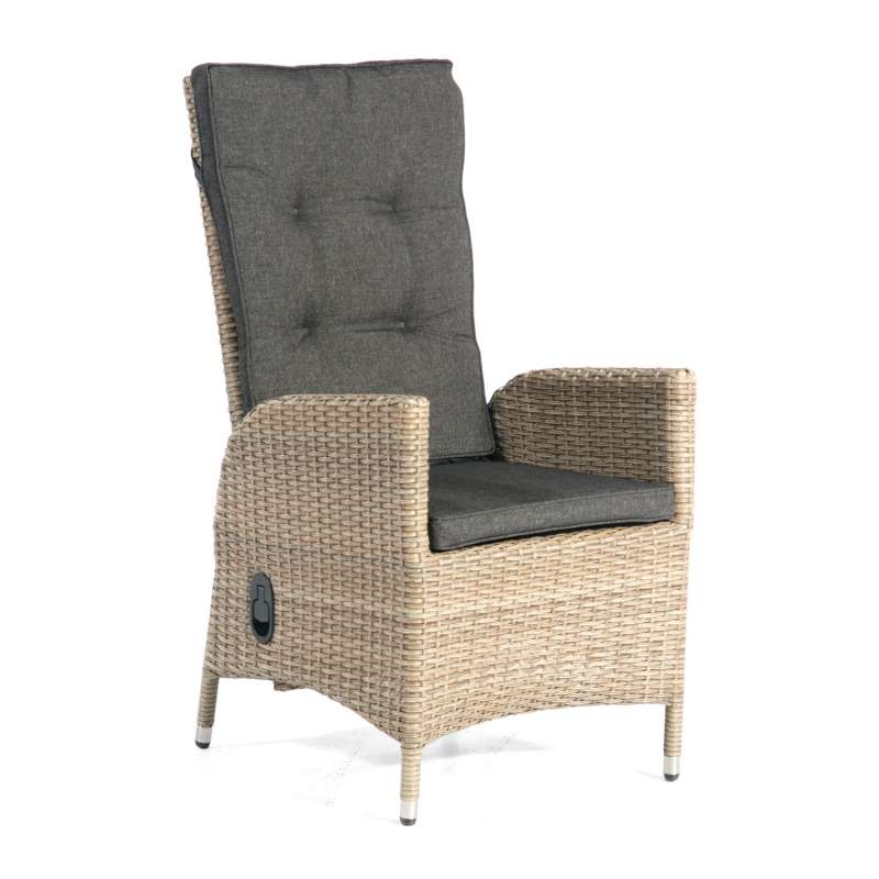 SunnySmart Dining-Sessel Para-Basic Aluminium mit Kunststoffgeflecht sandstone Gartenstuhl