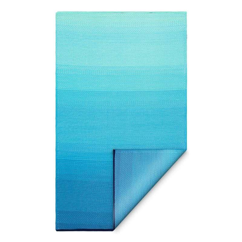Fab Hab Outdoorteppich Big Sur aus recyceltem Plastik teal/türkis wetterfest 90x150 cm
