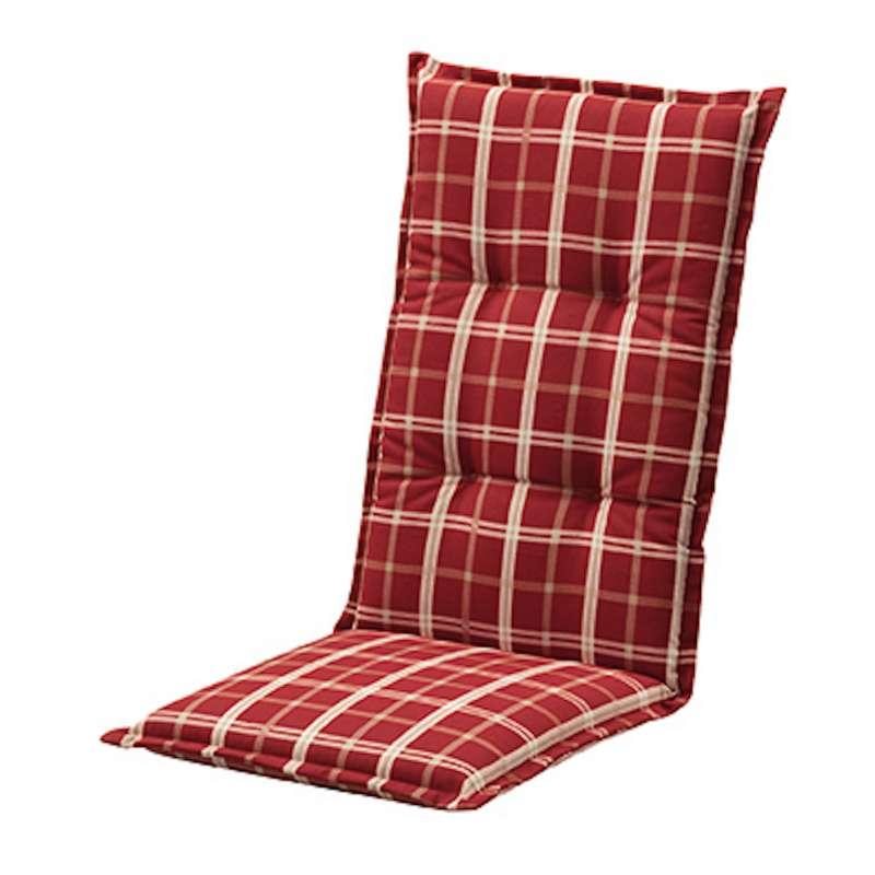Doppler Auflage für Niederlehner Stuhl Comfort Stoff 1101 Farbe rot 100 x 50 x 7 cm