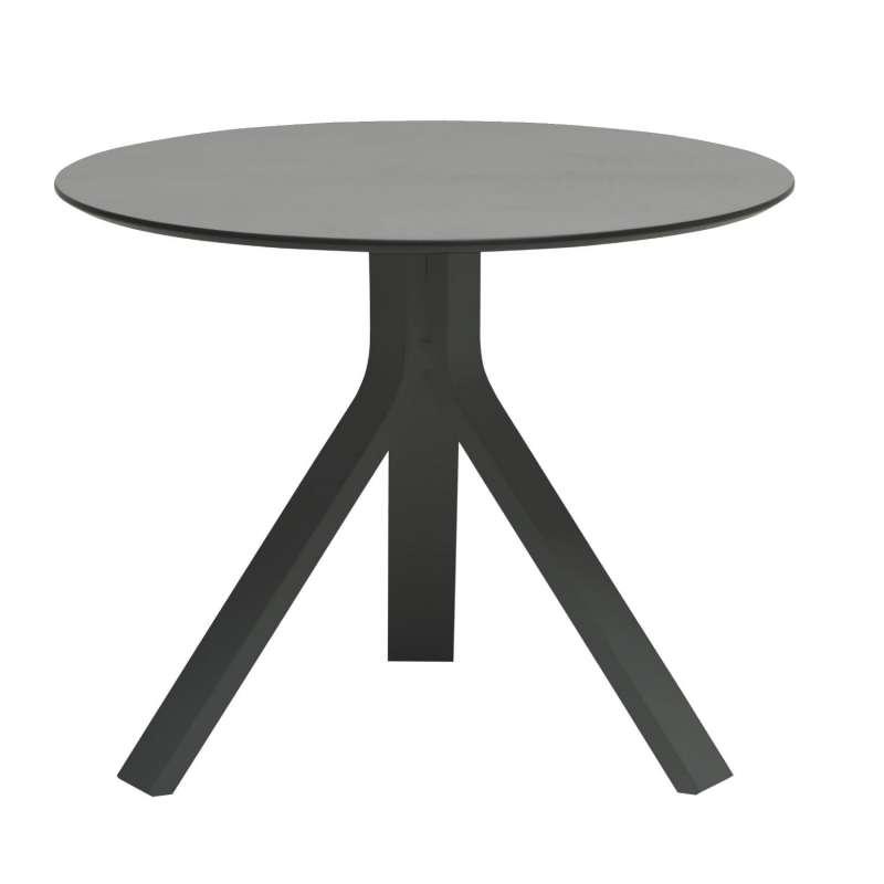 Stern Beistelltisch Freddie Ø 60 cm Aluminium anthrazit/Silverstar 2.0 uni grau Tisch Gartentisch