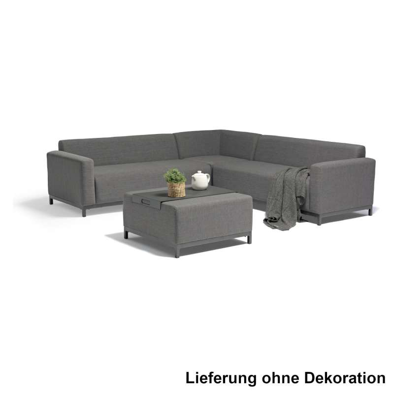 Inko Lounge-Sitzgruppe Palaneri grey Loungegruppe Loungesofa mit Tisch 230x230 cm Ecksofa