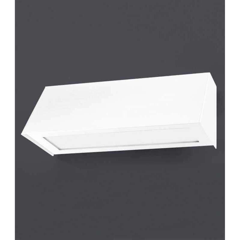 Heibi Wandleuchte STELLA Edelstahl weiß/Opalglas 25x10,5x9,5 cm E27 Außenleuchte