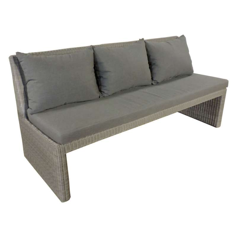 Sonnenpartner 3-Sitzer Loungesofa Savannah Aluminium mit Polyrattan stone-grey Lounge-Sofa