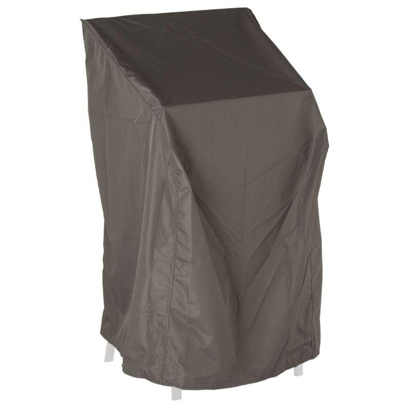Stern Schutzhülle für 4-6 Stapelsessel 68x66x117 cm Polyester grau mit Binderbändern Klettverschluss
