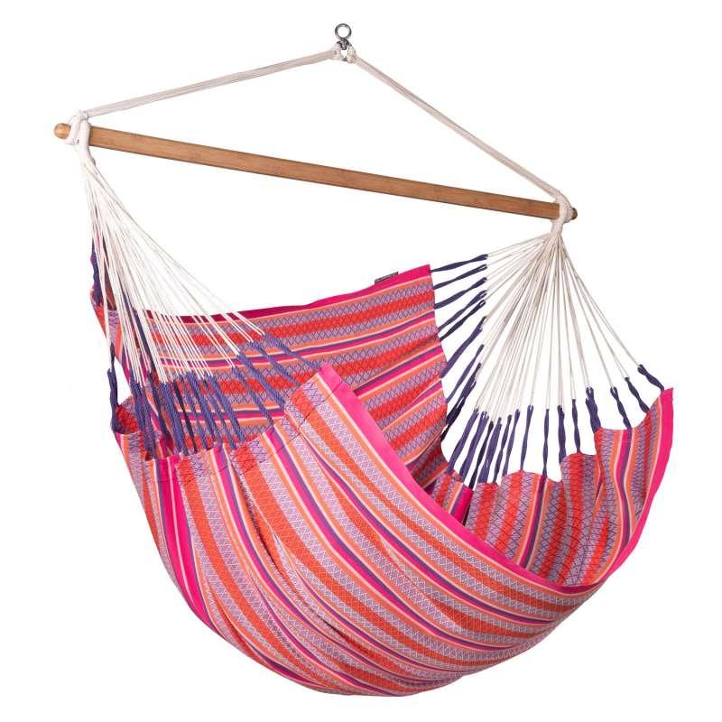 La Siesta Kingsize-Hängestuhl Bio-Baumwolle HABANA flamingo pink lounger HAL21-X2 optional mit Geste