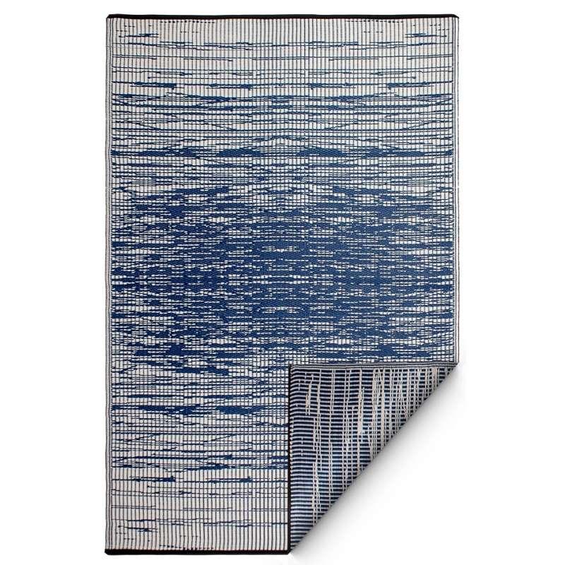 Fab Hab Outdoorteppich Brooklyn blau 120 x 180 cm aus recyceltem Plastik