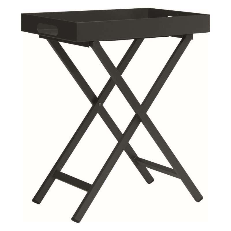 Stern Tabletttisch Aluminium anthrazit Beistelltisch 40x60 cm Loungetisch Tisch