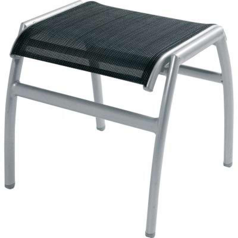 Inko Hocker Frisco Aluminium Gestell mit Textileen schwarz TT 695-S