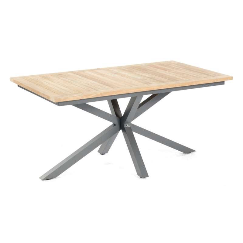 Sonnenpartner Gartentisch Base-Spectra diagonal 160x90 cm Aluminium anthrazit Tischsystem mit wählba