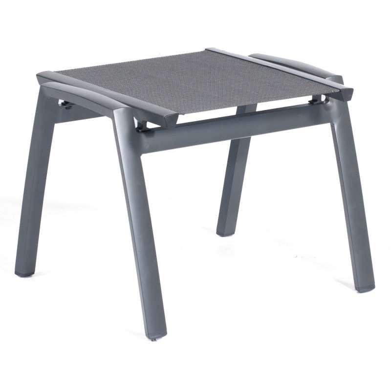 Sonnenpartner Fußhocker Star Aluminium mit Textilen anthrazit Sitzhocker