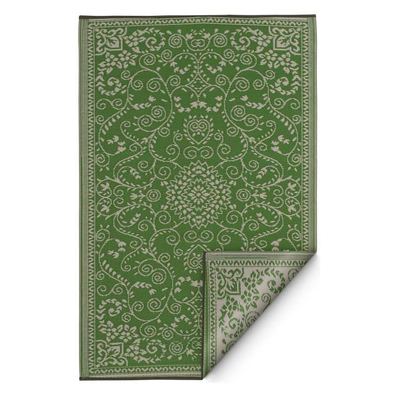 Fab Hab Outdoorteppich Murano Lime Green&Cream aus recyceltem Plastik grün/creme 90x150 cm