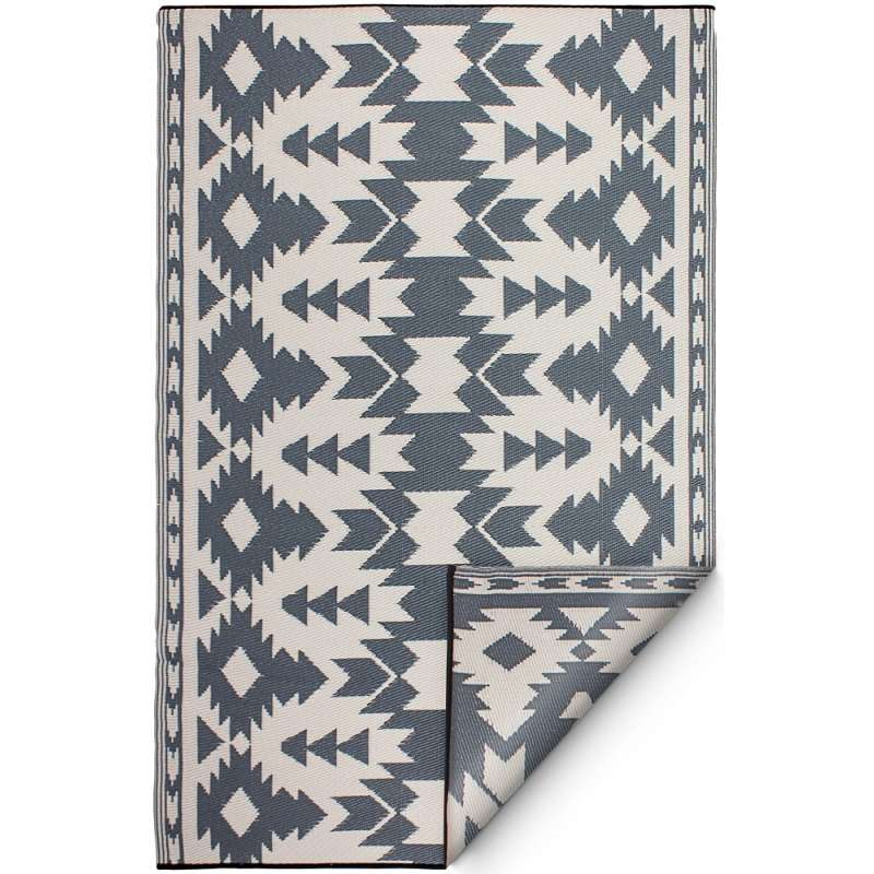 Fab Hab Outdoorteppich Miramar Gray aus recyceltem Plastik grau wetterfest 120x180 cm