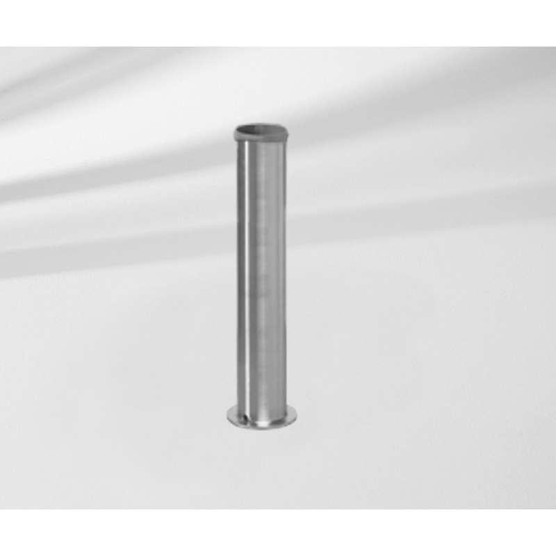 GLATZ Standrohr Z P+ aus Edelstahl passend zu Betonsockel Granitsockel