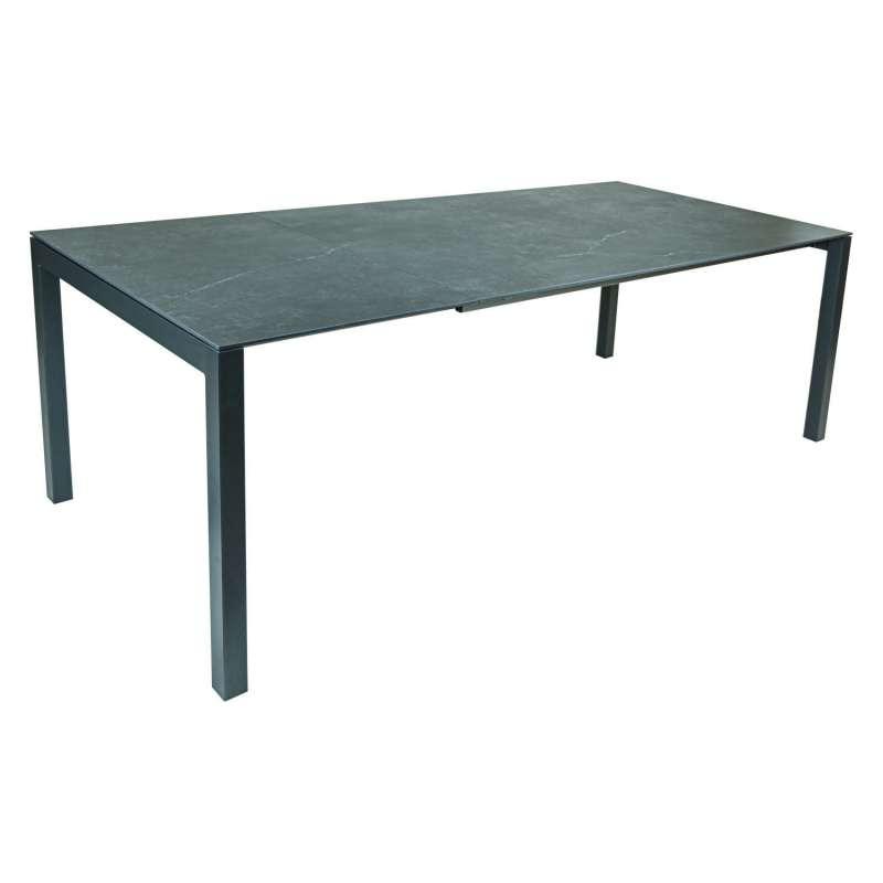 SIT Mobilia Gartentisch Etna Alpha Aluminium eisengrau/wählbare Tischplatte 300x95 cm Tisch Terrasse