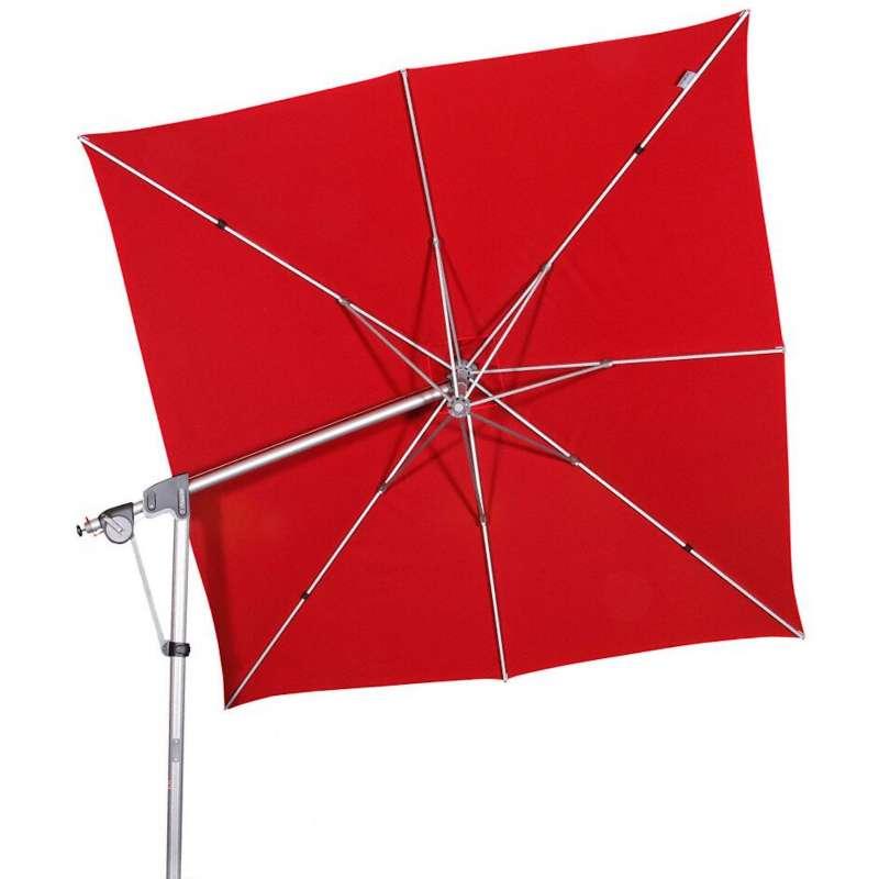 Doppler Protect Pendel 300 x 300 cm Sonnenschirm Rot 809 Pendelschirm Ampelschirm