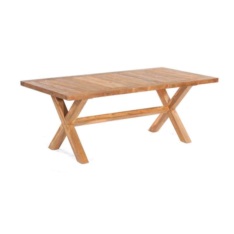 Sonnenpartner Gartentisch Stanford 200x100 cm Teakholz Old Teak Tisch Esstisch