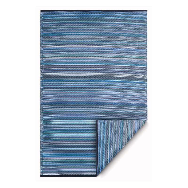 Fab Hab Outdoorteppich Cancun Indigo aus recyceltem Plastik blau 120x180 cm