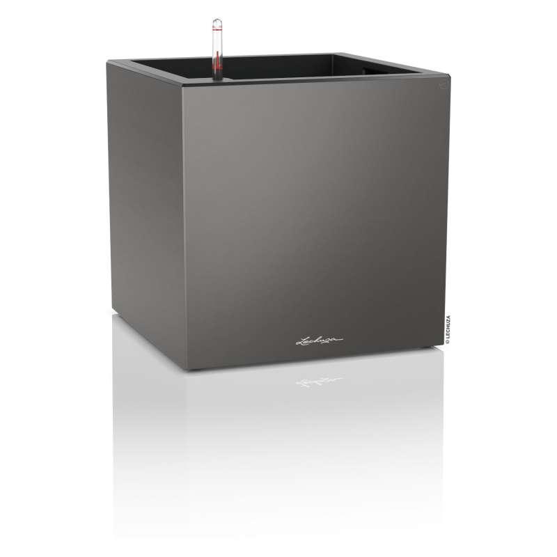 Lechuza Canto Premium 40 low Blumentopf Bewässerungssystem 40x40x40 cm 29 L 3 Farben Pflanzwürfel