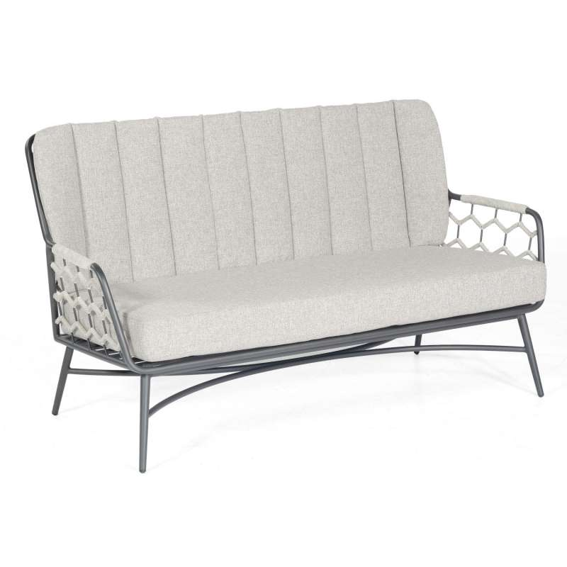Sonnenpartner Loungesofa Yale Aluminium mit Polyrope silbergrau Relaxsofa Garten-Sofa