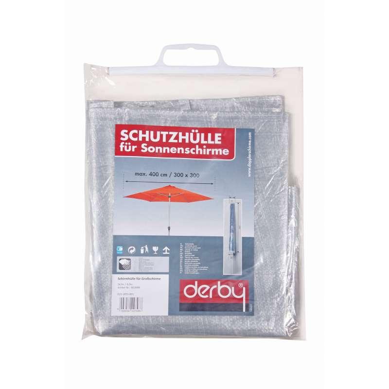 Doppler Schutzhülle Basic weiß für Ampelschirme mit ø 350 cm und 300 x 300 cm Sonnenschirm