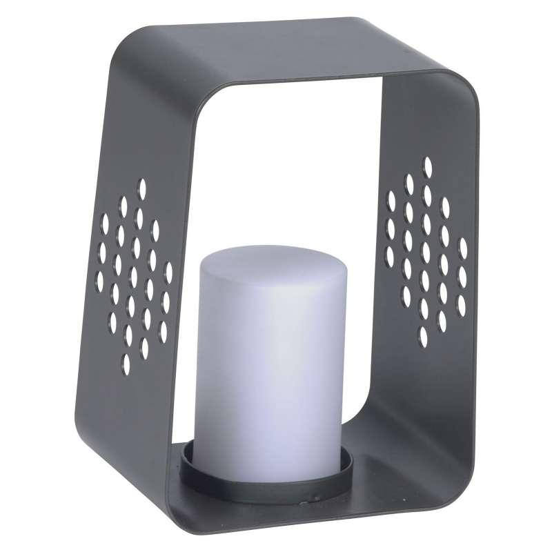 Stern Leuchte Aluminium anthrazit 22x20 cm mit LED-Einsatz 0,6 W Gartenlicht Windlicht