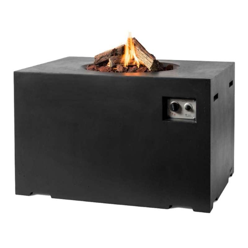 Happy Cocooning Mania Feuertisch Lounge&Dining 19,5 kW rechteckig 107x80x67 cm Beton-Optik schwarz