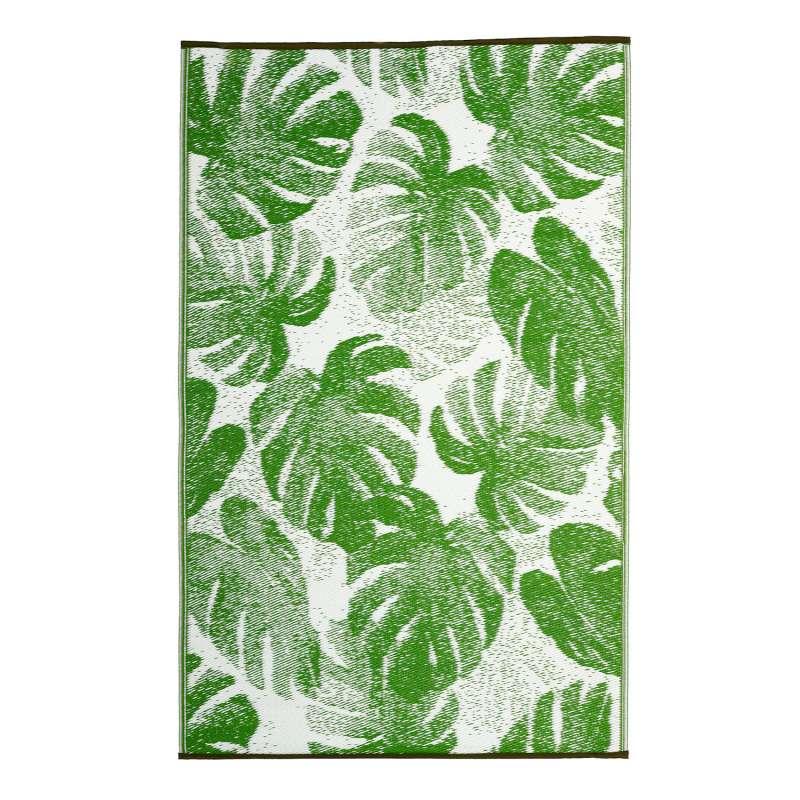 Fab Hab Outdoorteppich Panama Green aus recyceltem Plastik grün 120x180 cm
