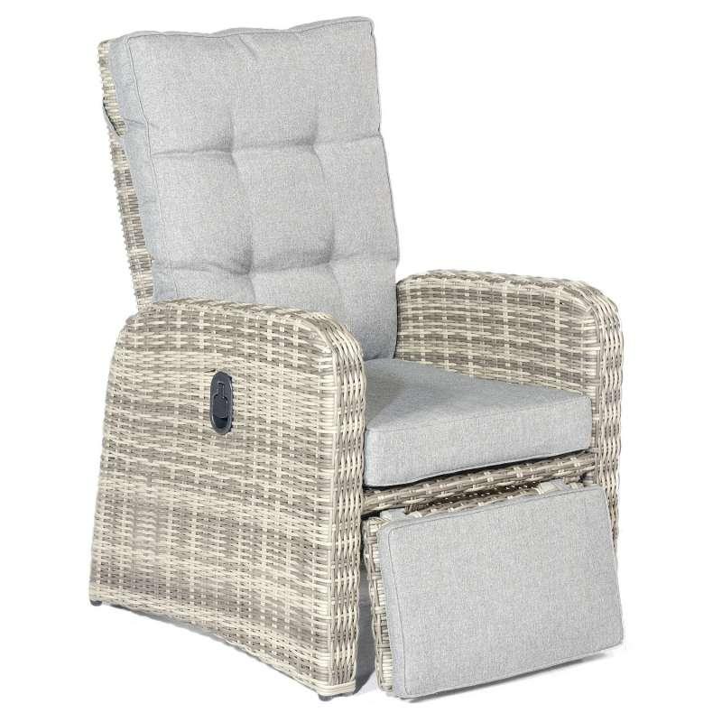 SunnySmart Garten-Relax-Sessel Allianz Aluminium mit Kunststoffgeflecht vintage-taupe Loungesessel
