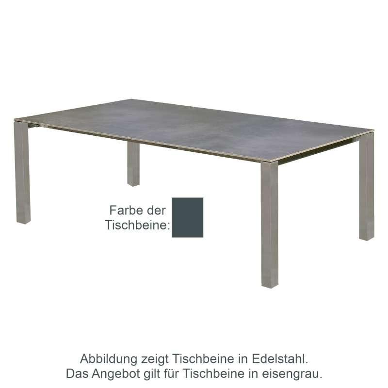 SIT Mobilia Gartentisch Domingo Edelstahl eisengrau/wählbare Tischplatte 240x110 cm Tisch Terrassent