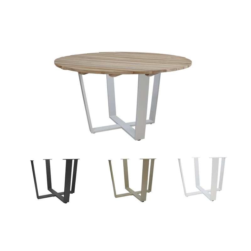 4Seasons Outdoor Cricket Esstisch Tischplatte ø 130 cm 4 Gestellfarben möglich