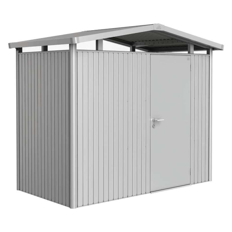 Biohort Gartenhaus Panorama® mit Standardtür silber-metallic 5 verschiedenen Größen Gerätehaus