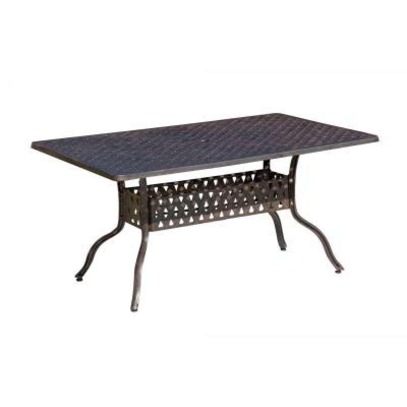 Inko Aluguss Tisch Alu-Guss Bronze 150 x 97 cm Gartentisch TAG 203-B