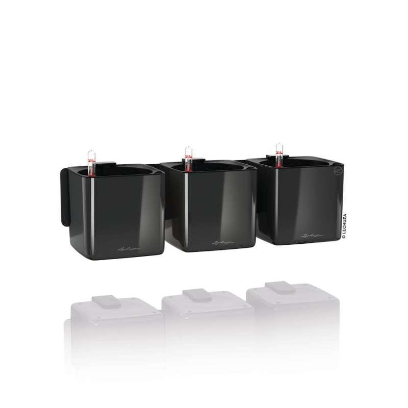 Lechuza Cube Glossy Green Wall Home Kit Blumentopf Bewässerungssystem 48x14x6 cm 3 Farben Pflanzgefä