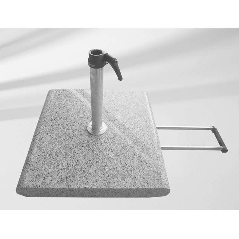 GLATZ Granitsockel Z 55 kg inkl. Standrohr Z aus Edelstahl mit Rollen und Griff